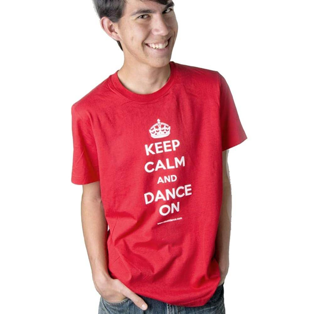 "Covet Adult ""Keep Calm and Dance On"" Unisex Tee"