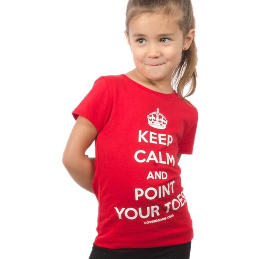 "Covet Child ""Keep Calm and Point Your Toes"" Tee"