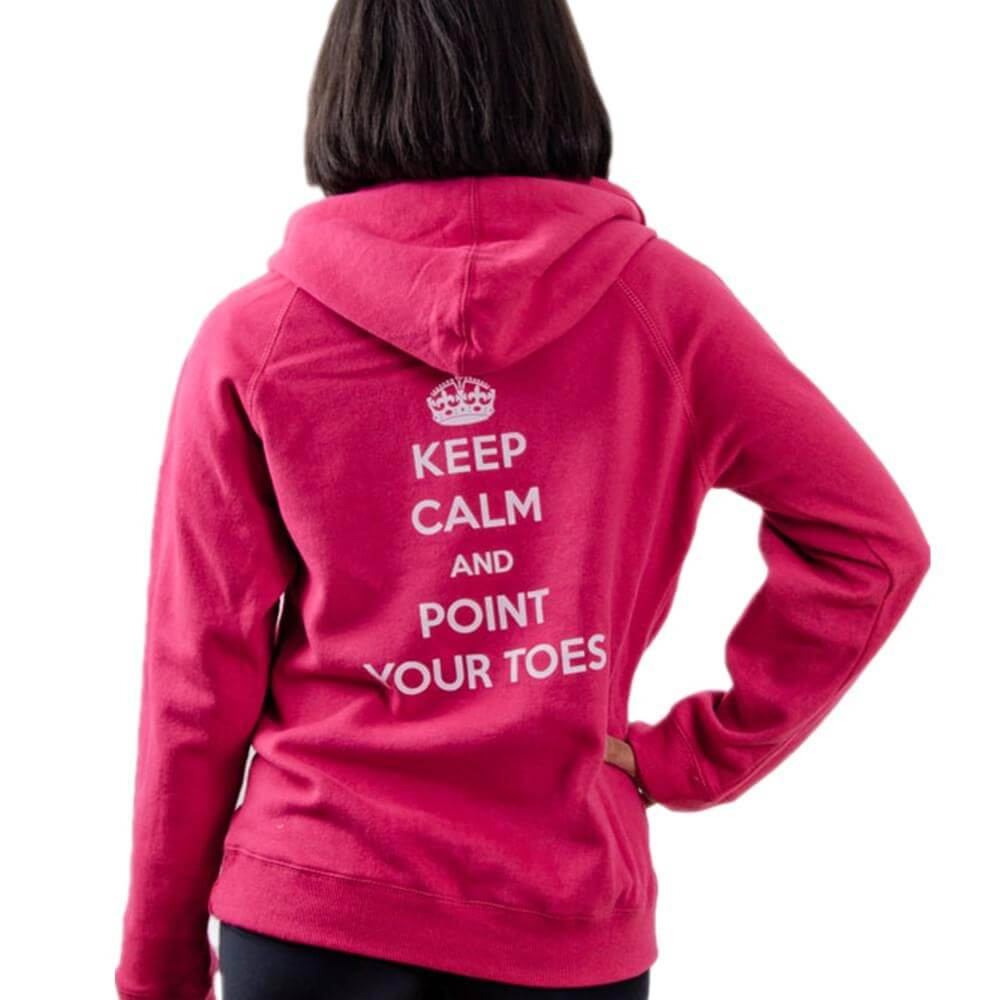 "Covet Adult ""Keep Calm and Point Your Toes"" Hoodie"