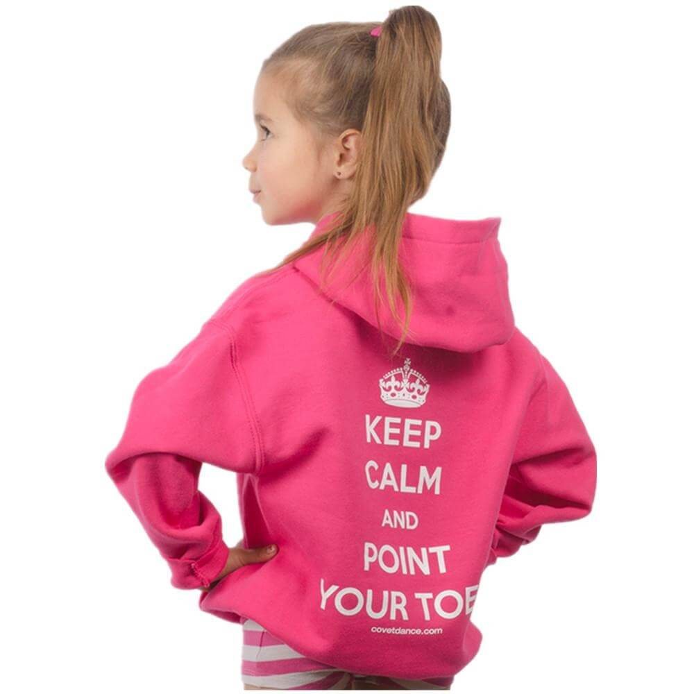 "Covet Youth ""Keep Calm and Point Your Toes"" Pullover Hoodie"