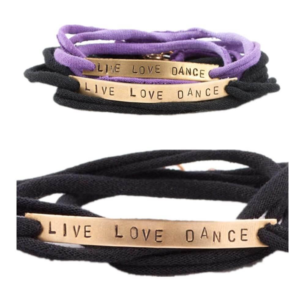 "Covet ""Live Love Dance"" Wrap Bracelets"