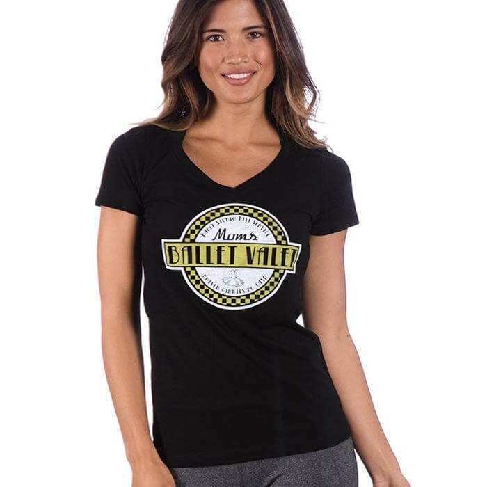 Covet Mom's Ballet Valet-Taxi Service Black Tee