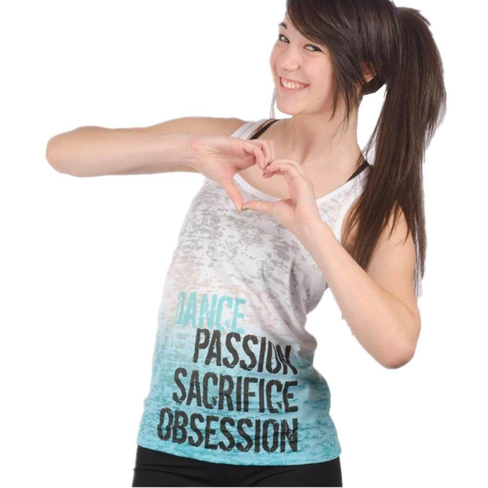 "Covet Adult ""Passion Sacrifice Obsession"" Ombre Tank"