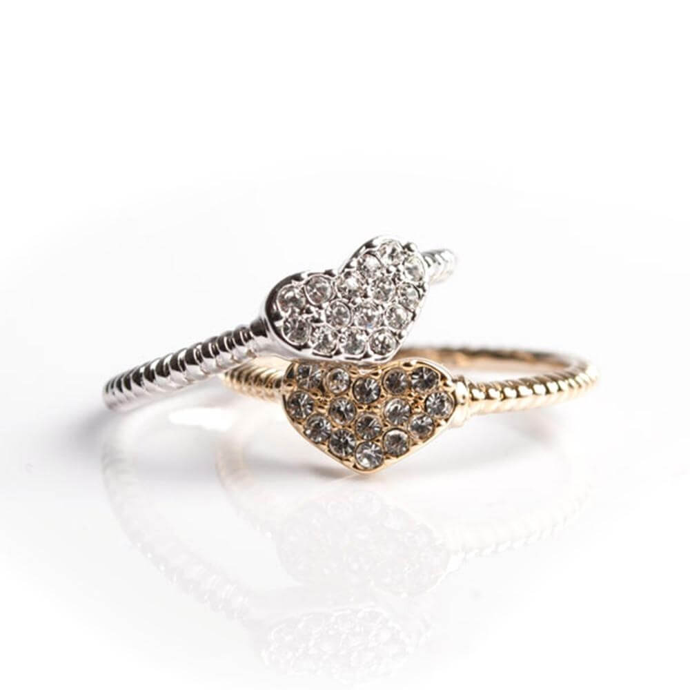 Covet Sparkly Heart Ring