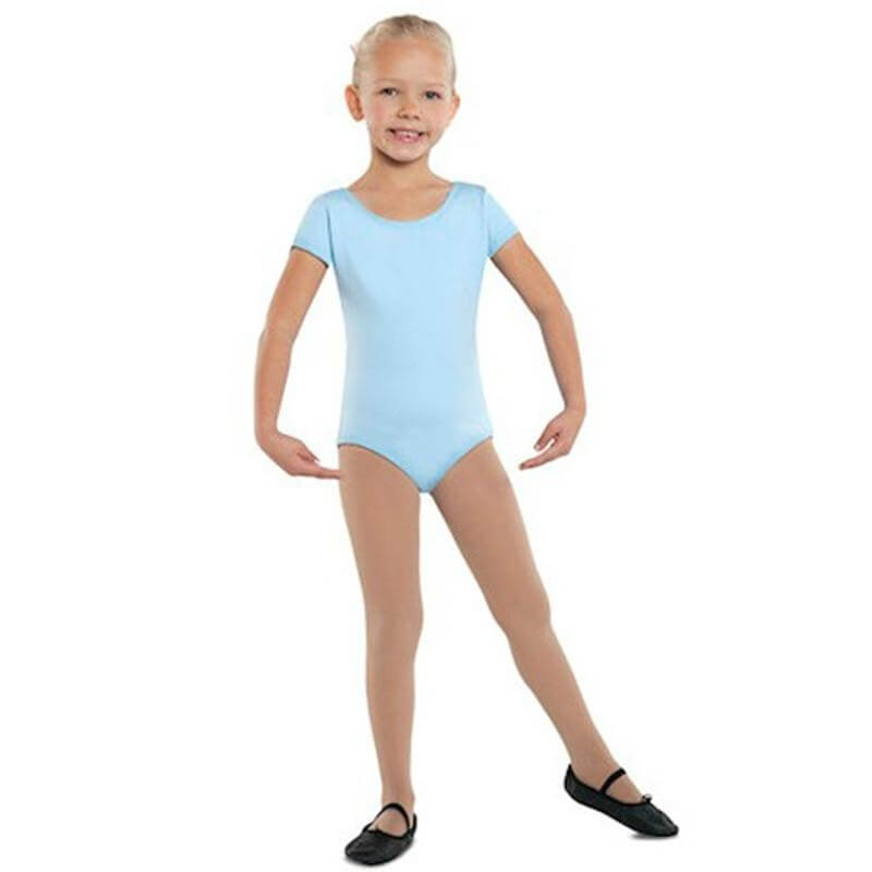 Danshuz Child Cotton Short Sleeve Leotard