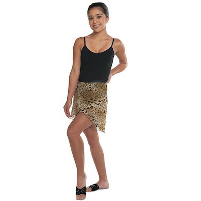 Danshuz Chiffon Leopard Wrap Skirt