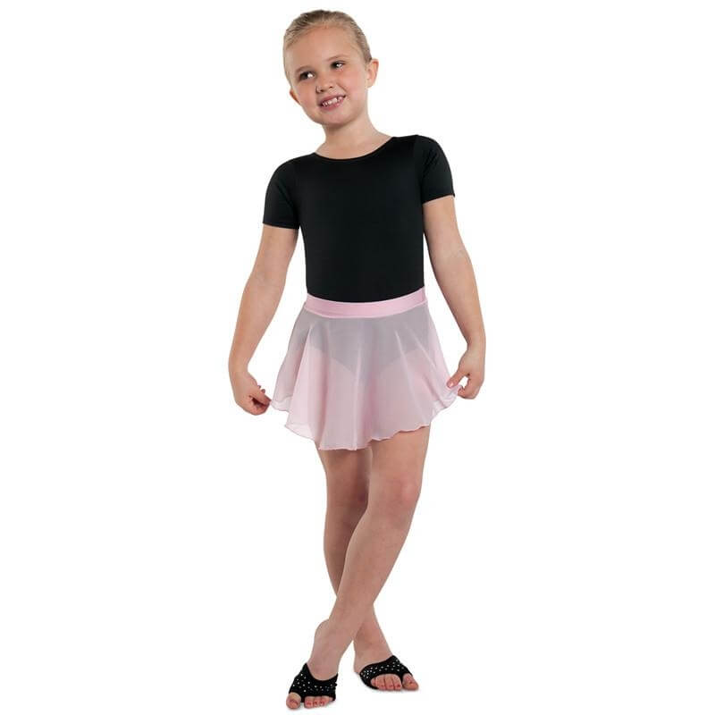 Childrens Georgette Mock Wrap Skirt Danshuz