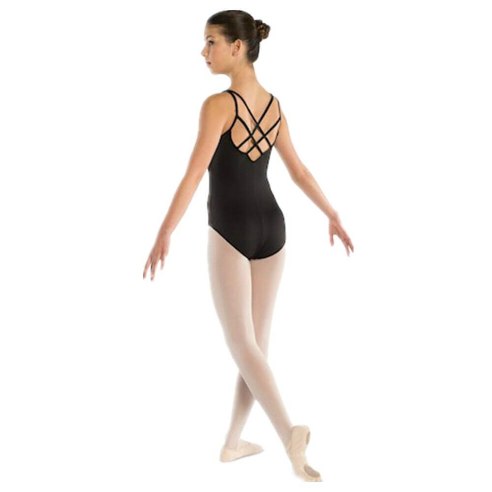 Danshuz Adult Pinch Front Tactel Crisscross Back Leotard