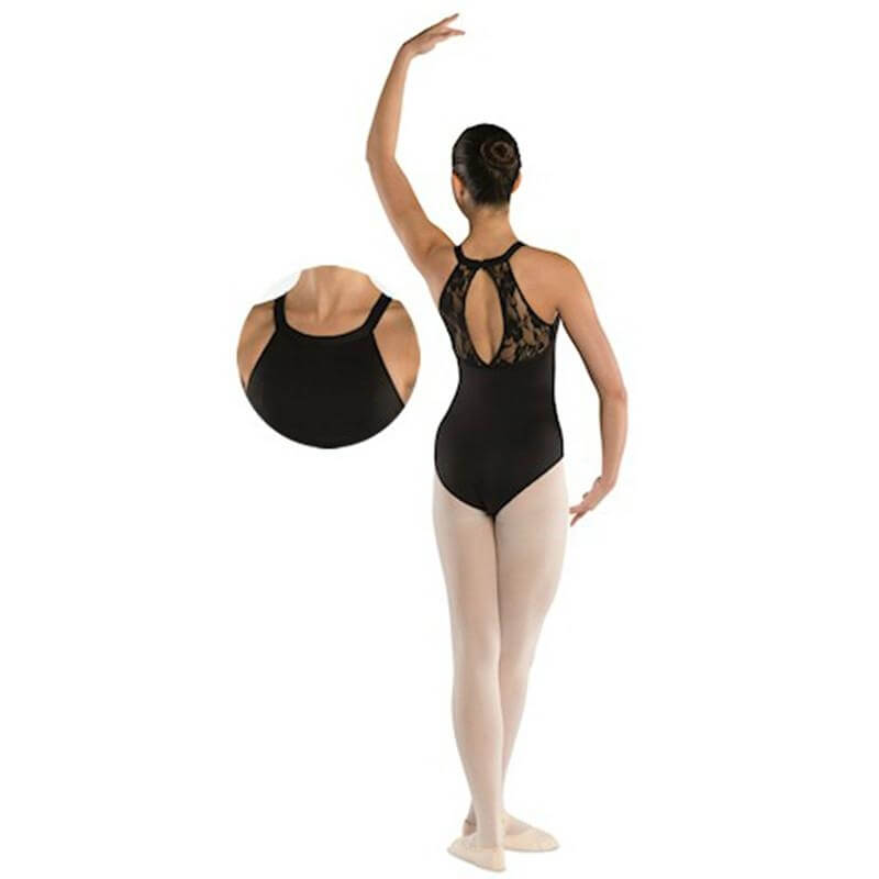 Danshuz Adult Oval Lace Back Design Leotard