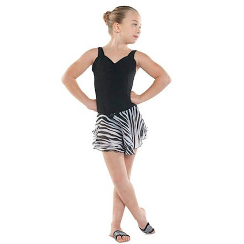 Danshuz Child Zebra Circle Skirt