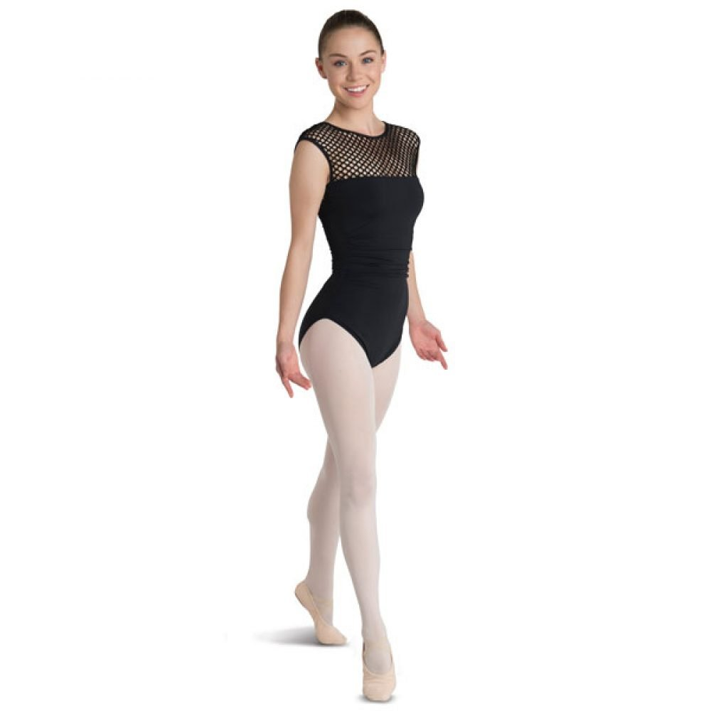 Danshuz Large Hole Mesh Yoke Leotard