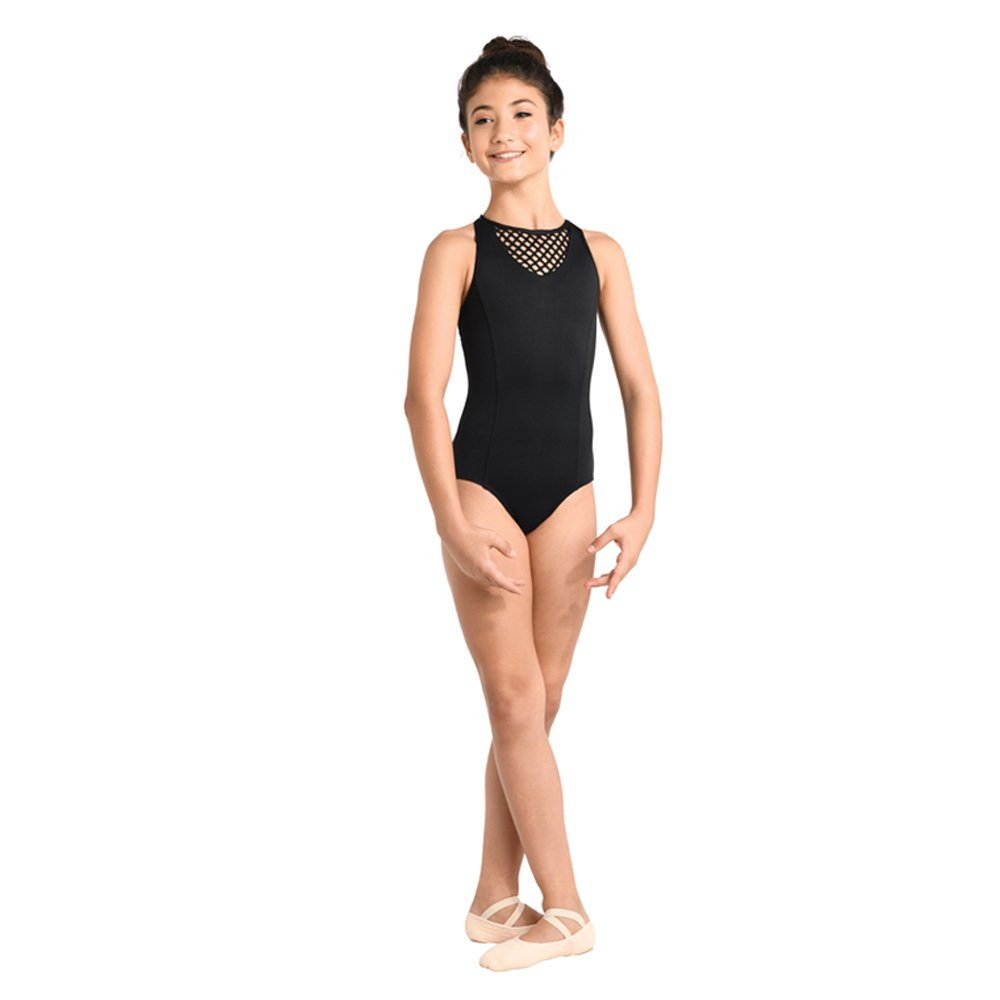 Danshuz Chlid V-Neck Large hole mesh Leotard