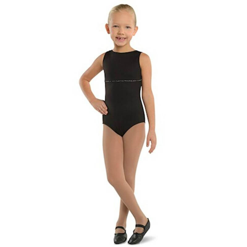 Danshuz Child Boat Leotard with Rhinestone