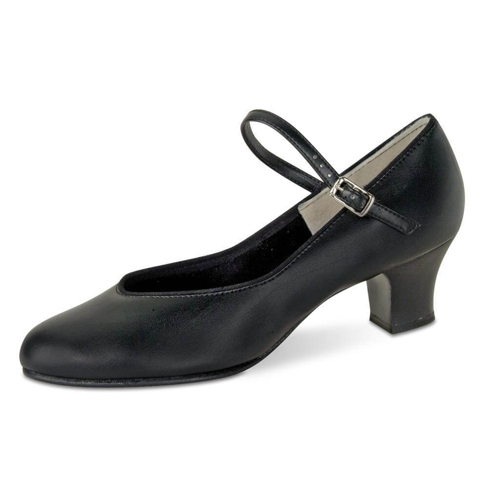 "Danshuz Adult 1 1/2"" Heel Tap Queen Black Character Shoe"