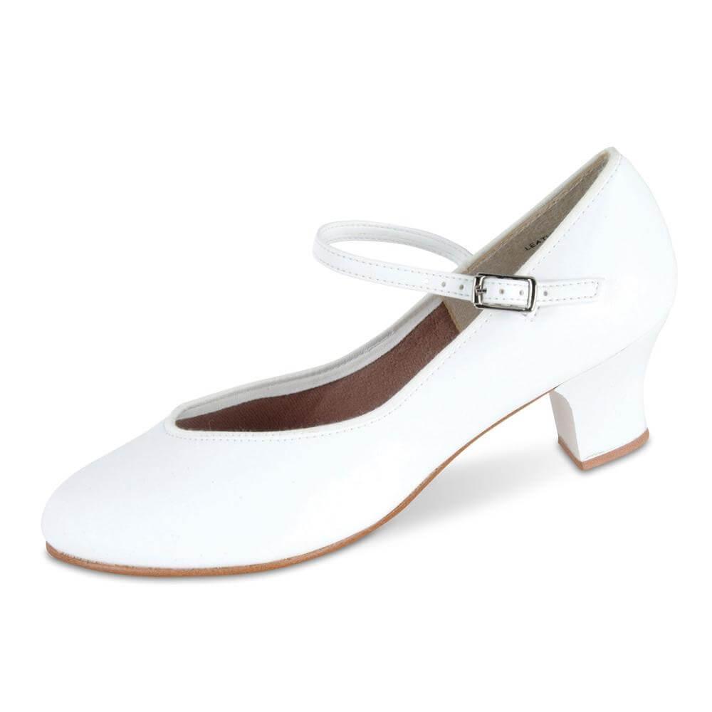 """Danshuz 1 1/2"""" Heel Tap Queen White Character Shoe"""