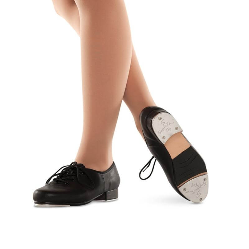 Danshuz Child Slammer Leather Lace Up Tap Shoe