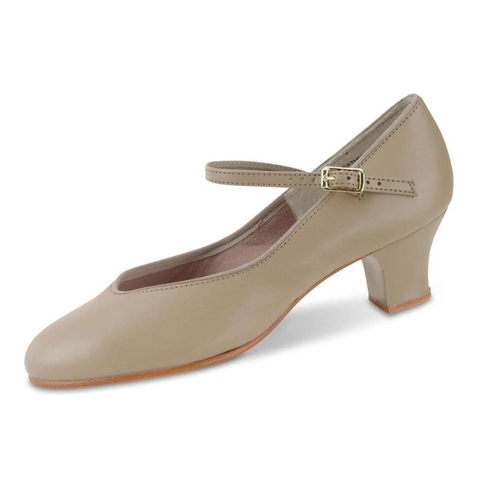"""Danshuz 1 1/2"""" Heel Tap Queen Tan Character Shoe"""