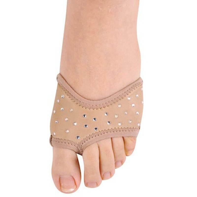 Danshuz Solid Color Neoprene Half Sole with Rhinestones