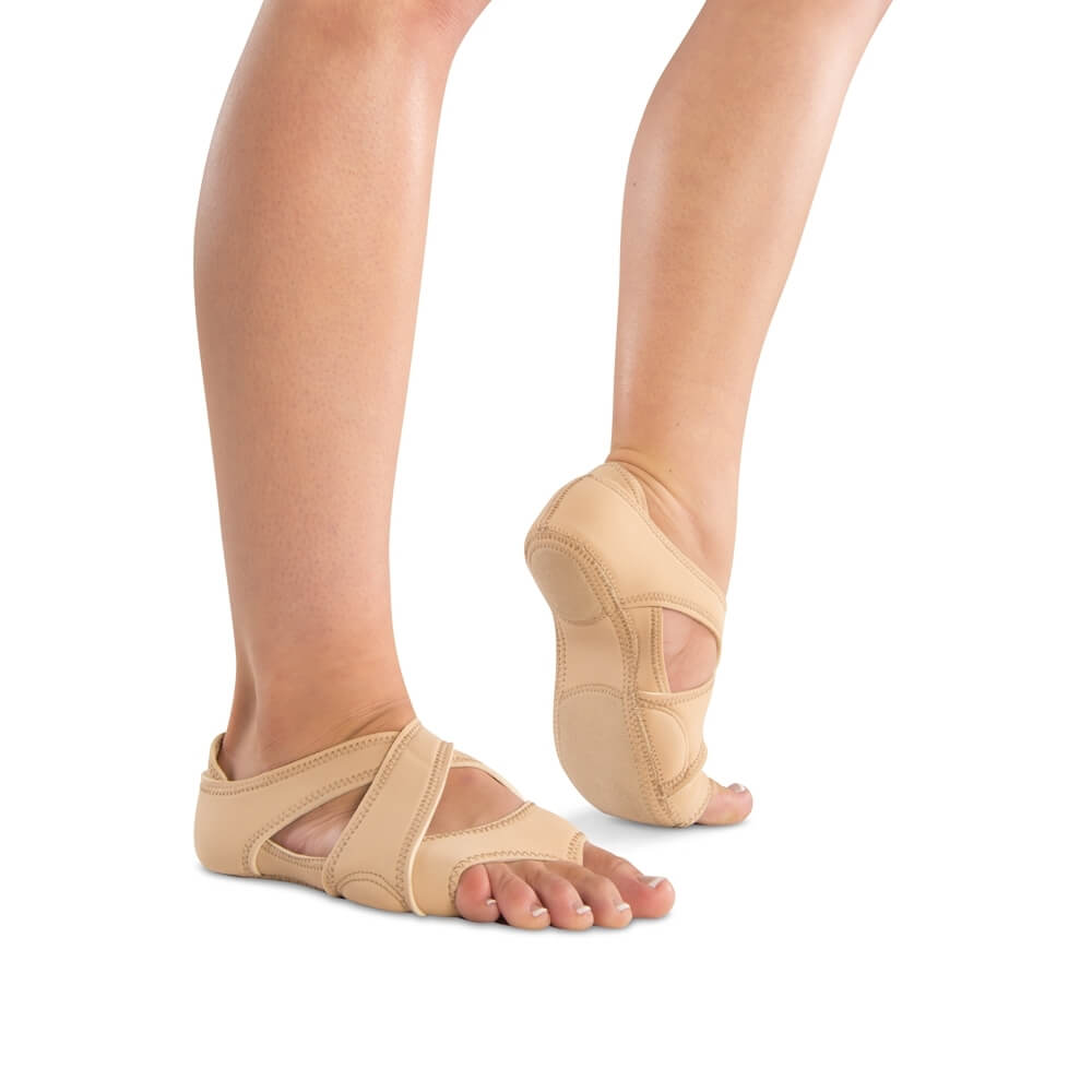 Danshuz Tan Neoprene Cross Wrap Half Sole