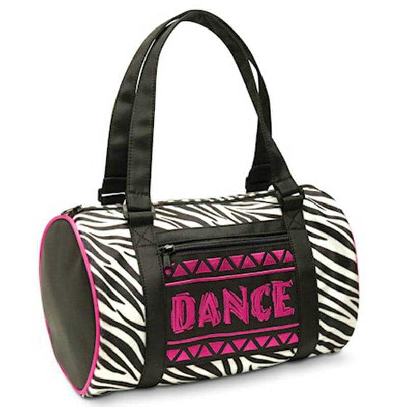 Danshuz Jungle Zebra Duffel Dance Bag