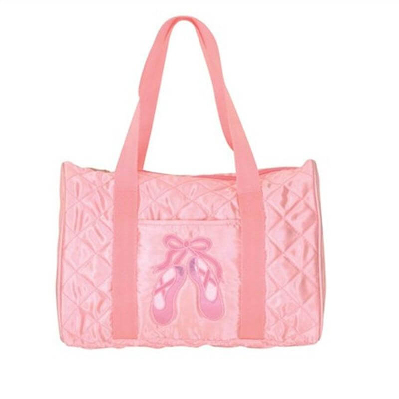 Danshuz Quilted On Pointe Pink Duffel Bag
