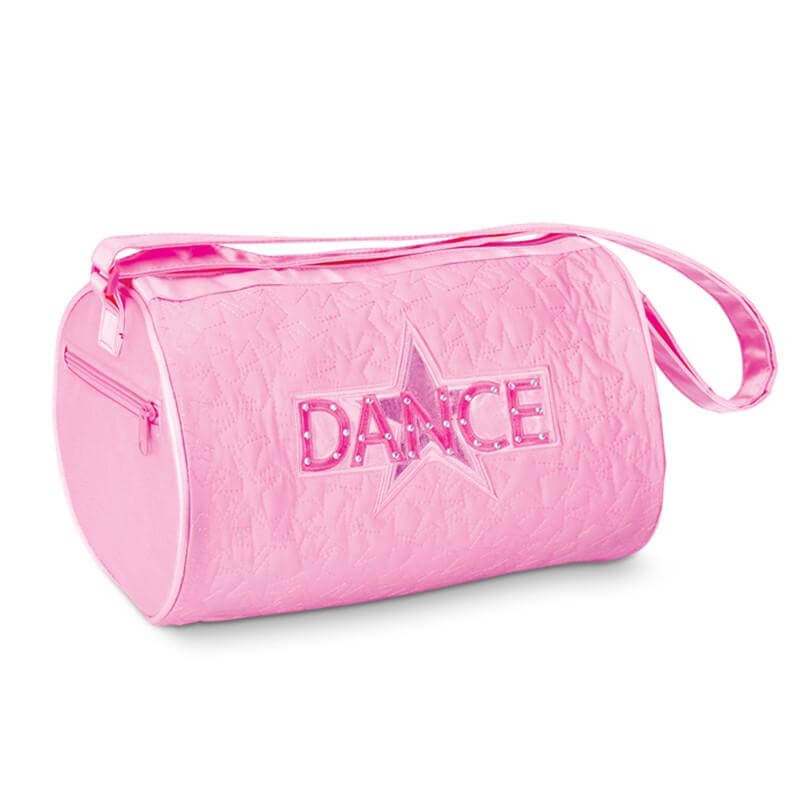 Danshuz Pink Quilted Star Dance Roll Duffel Bag