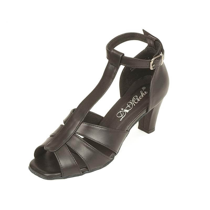 "DiMichi Adult 2 1/2"" Heel ""Cleo"" T-strap Gladiator Style Ballroom Shoe"