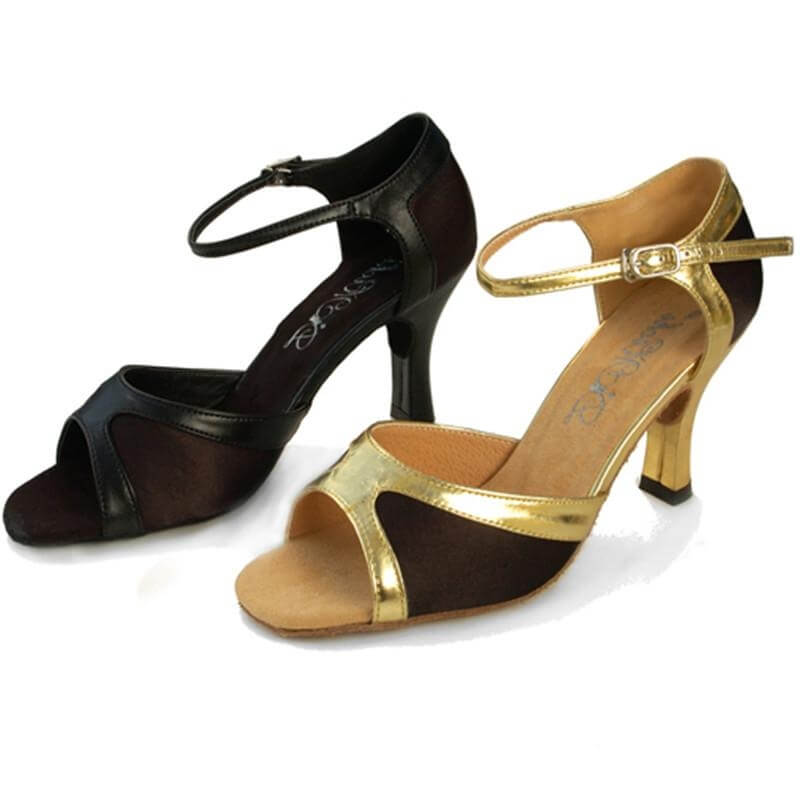 "Dimichi ""Danielle\"" Satin Suede Sole Ballroom Shoes"