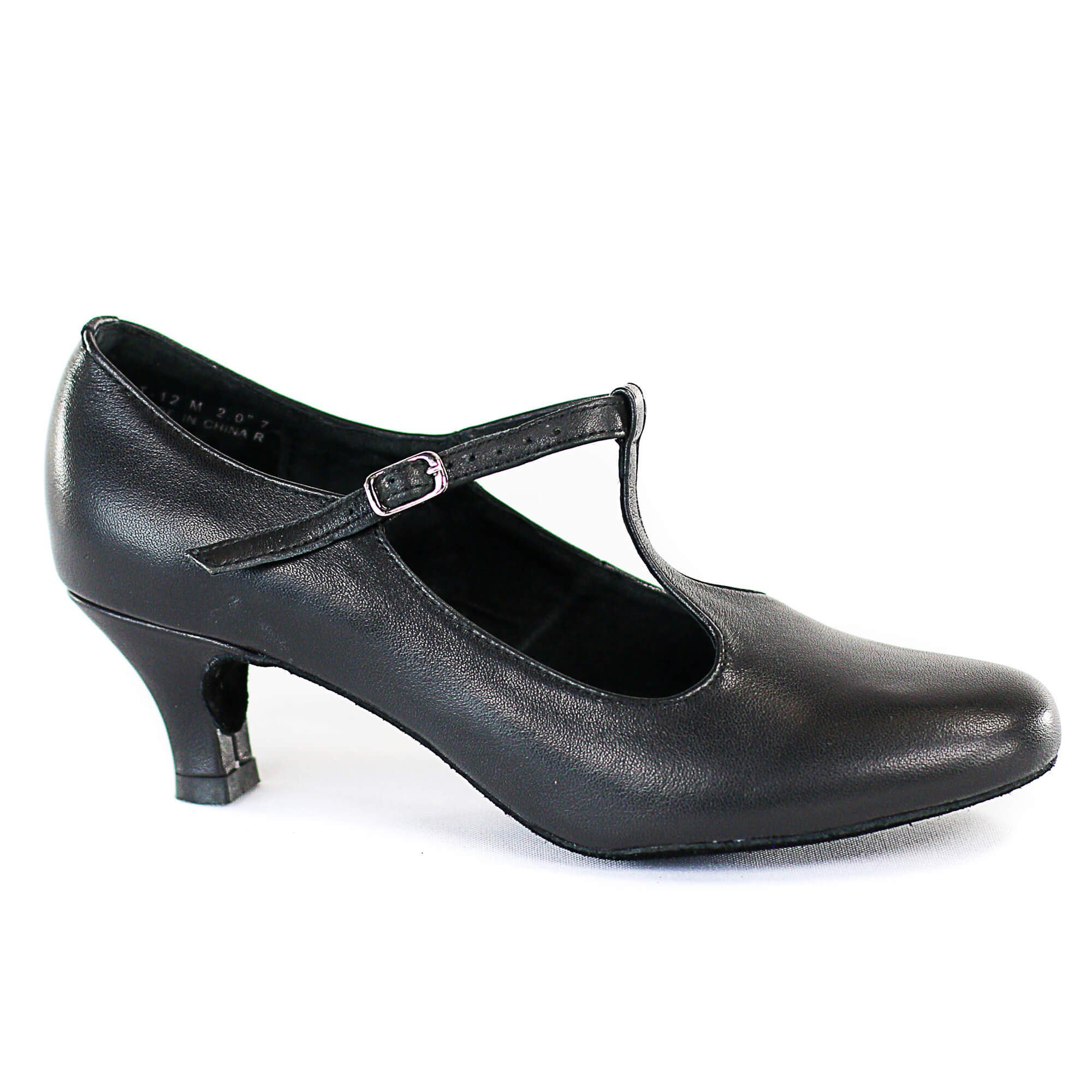 "Dimichi ""Lena"" Leather Insole Heel 2"" Ballroom Shoes"