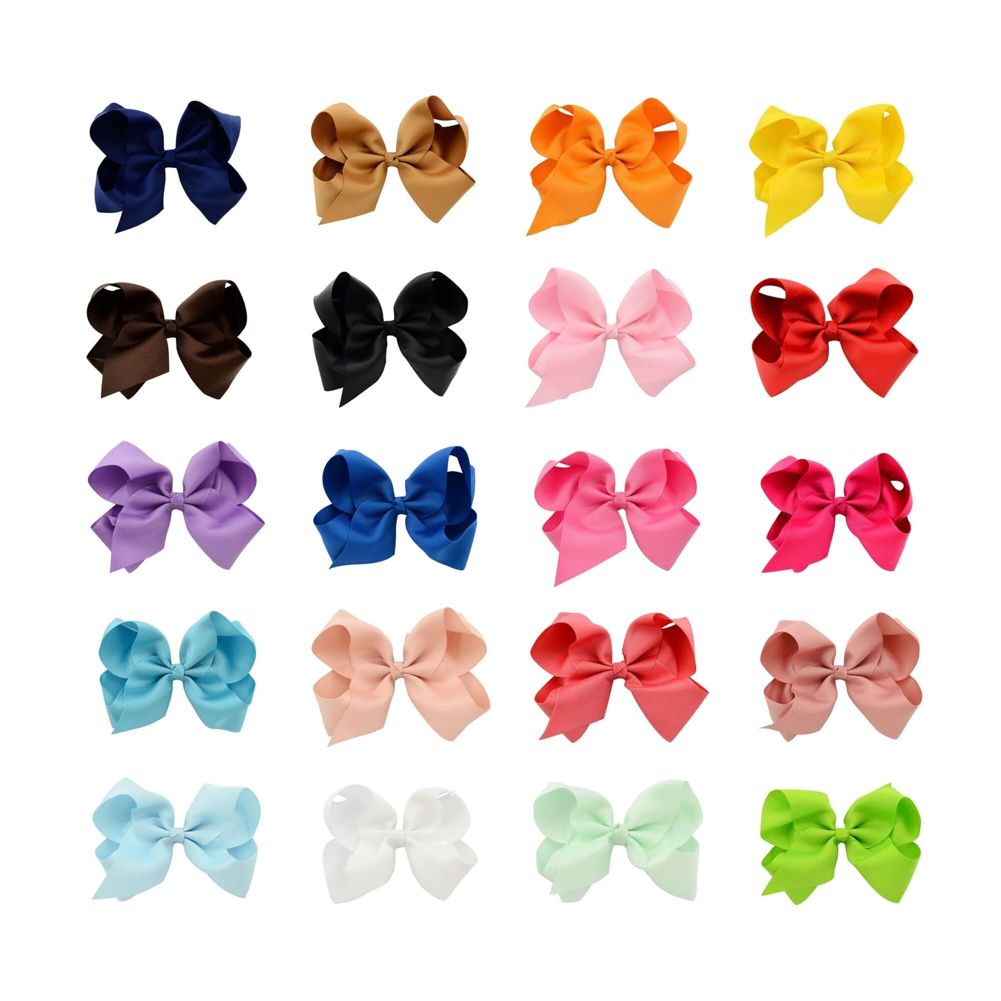 "Danzcue 20pcs 5.9"" Baby Girls Ladies Clip Hair Bows"