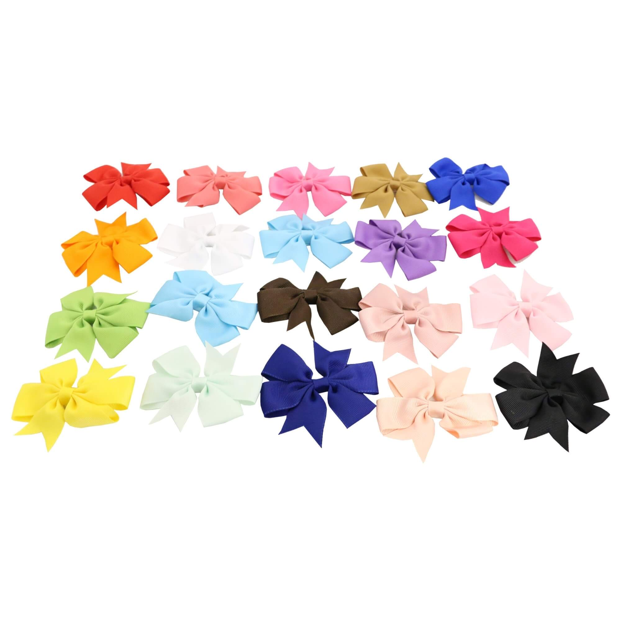"Danzcue 20pcs 3.15"" Baby Girls Ladies Clip Hair Bows"