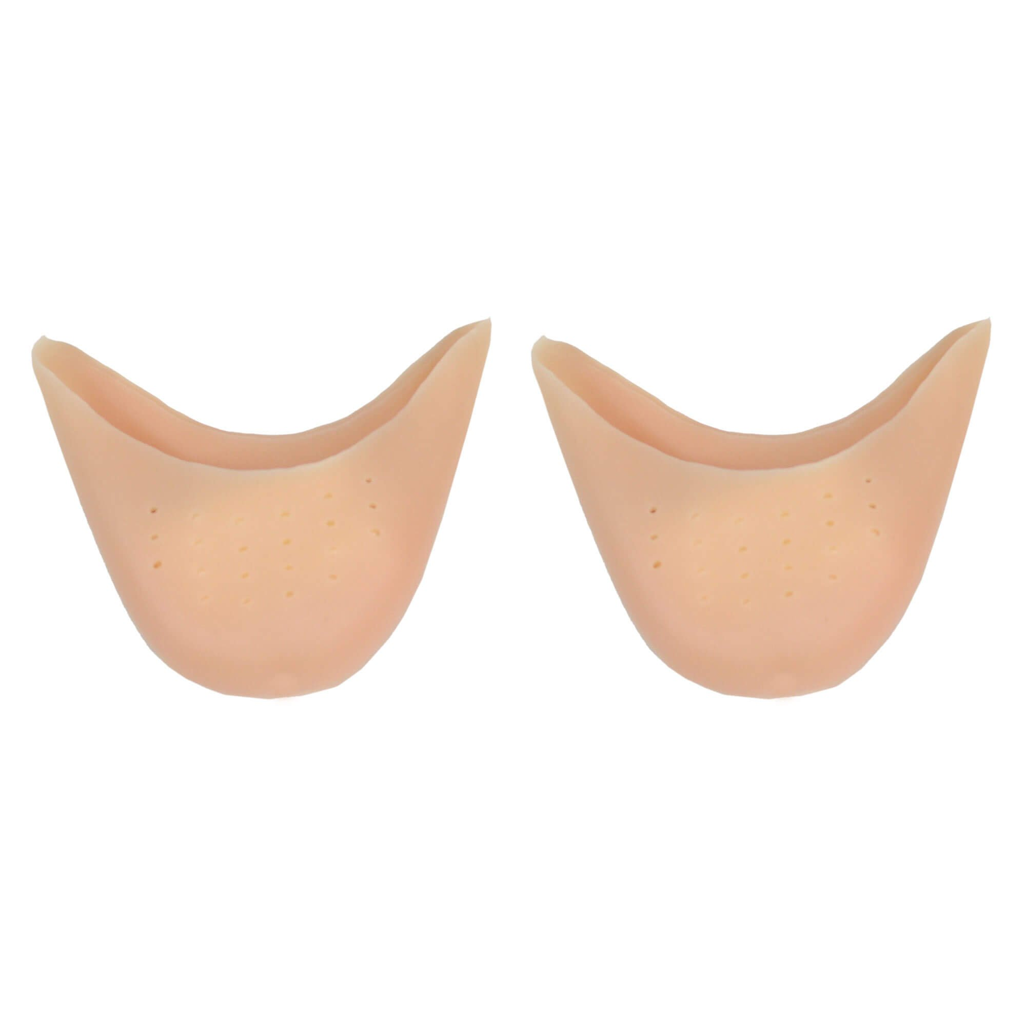 danzcue 1 pair soft ballet pointe dance toe pads with breathable hole