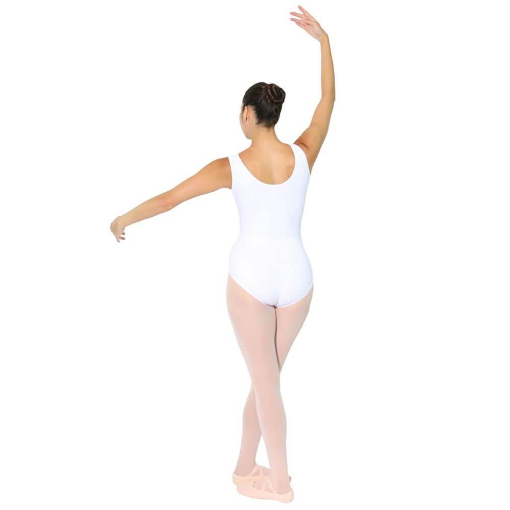 danzcue adult cotton tank ballet cut leotard
