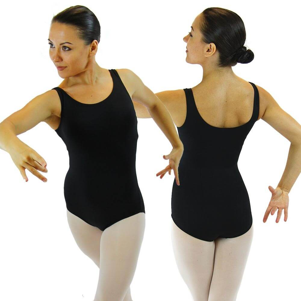 Danzcue Adult Nylon Tank Ballet Cut Leotard