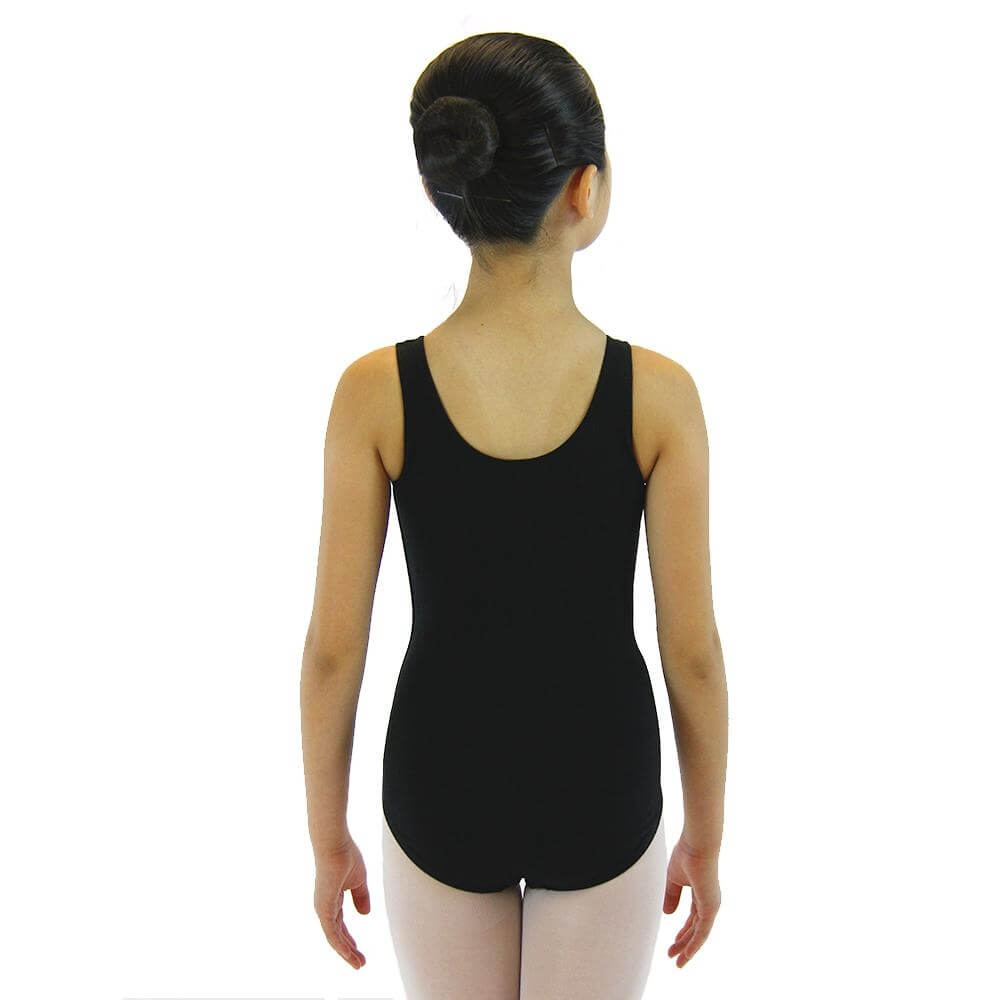 danzcue child nylon tank ballet cut leotard