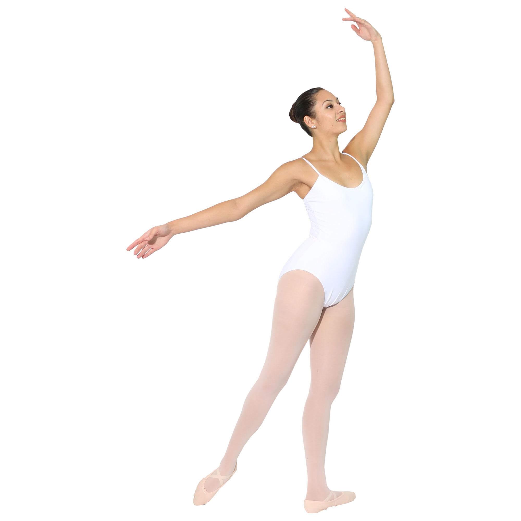 danzcue adult ballet cotton camisole leotard