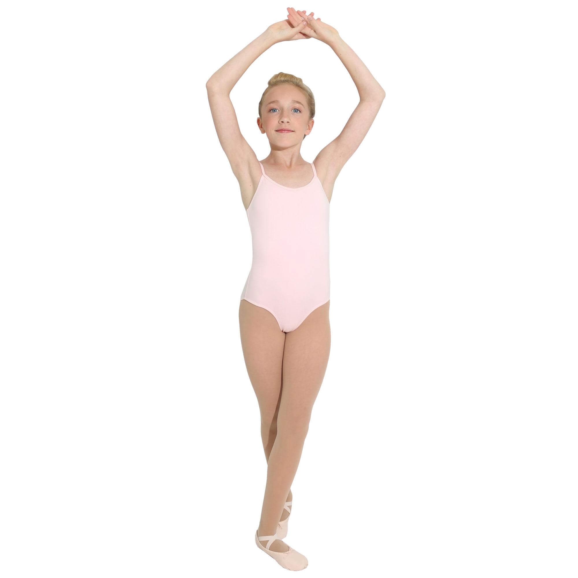 danzcue child ballet cotton camisole leotard