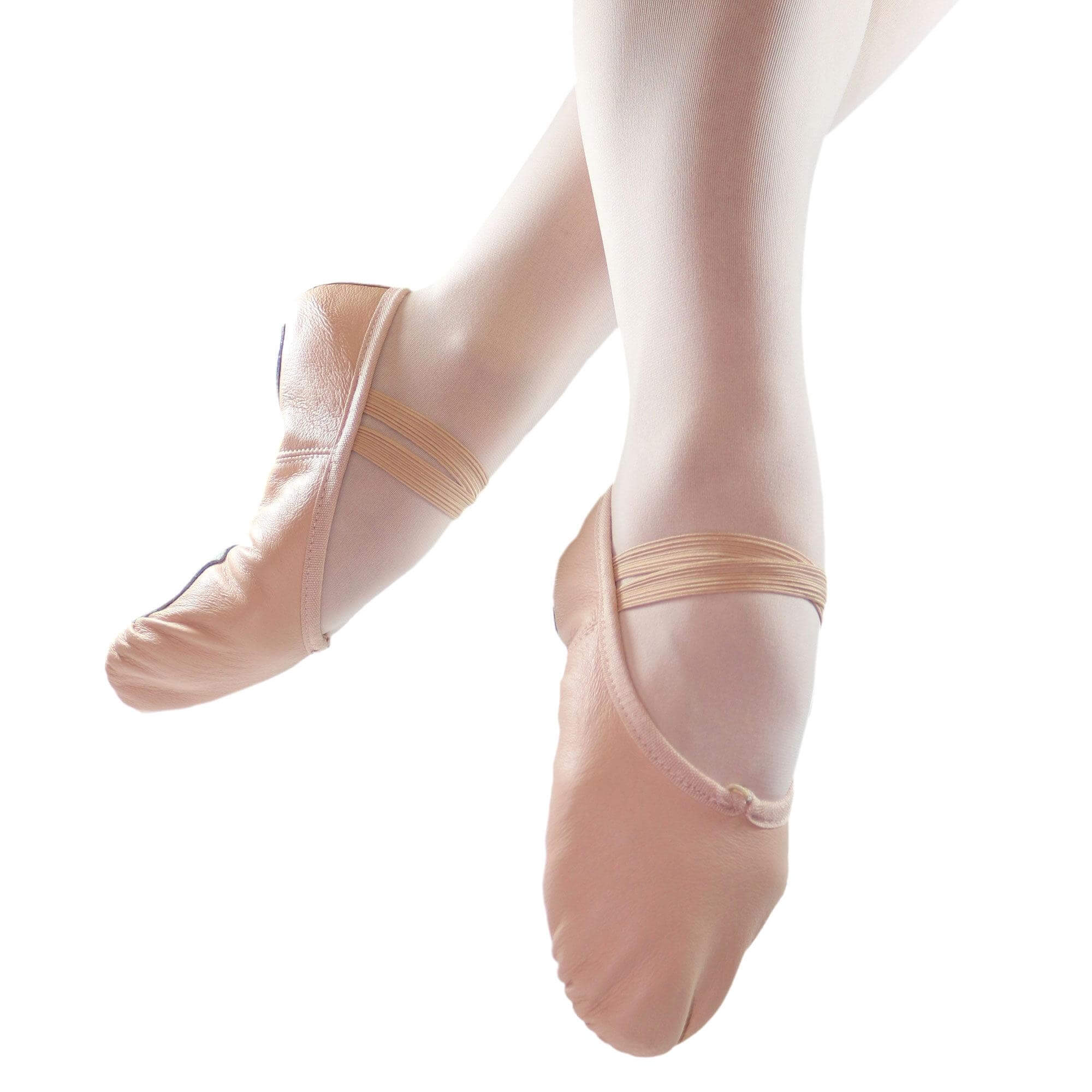 Danzcue Child Split Sole Leather Ballet Slipper - Click Image to Close
