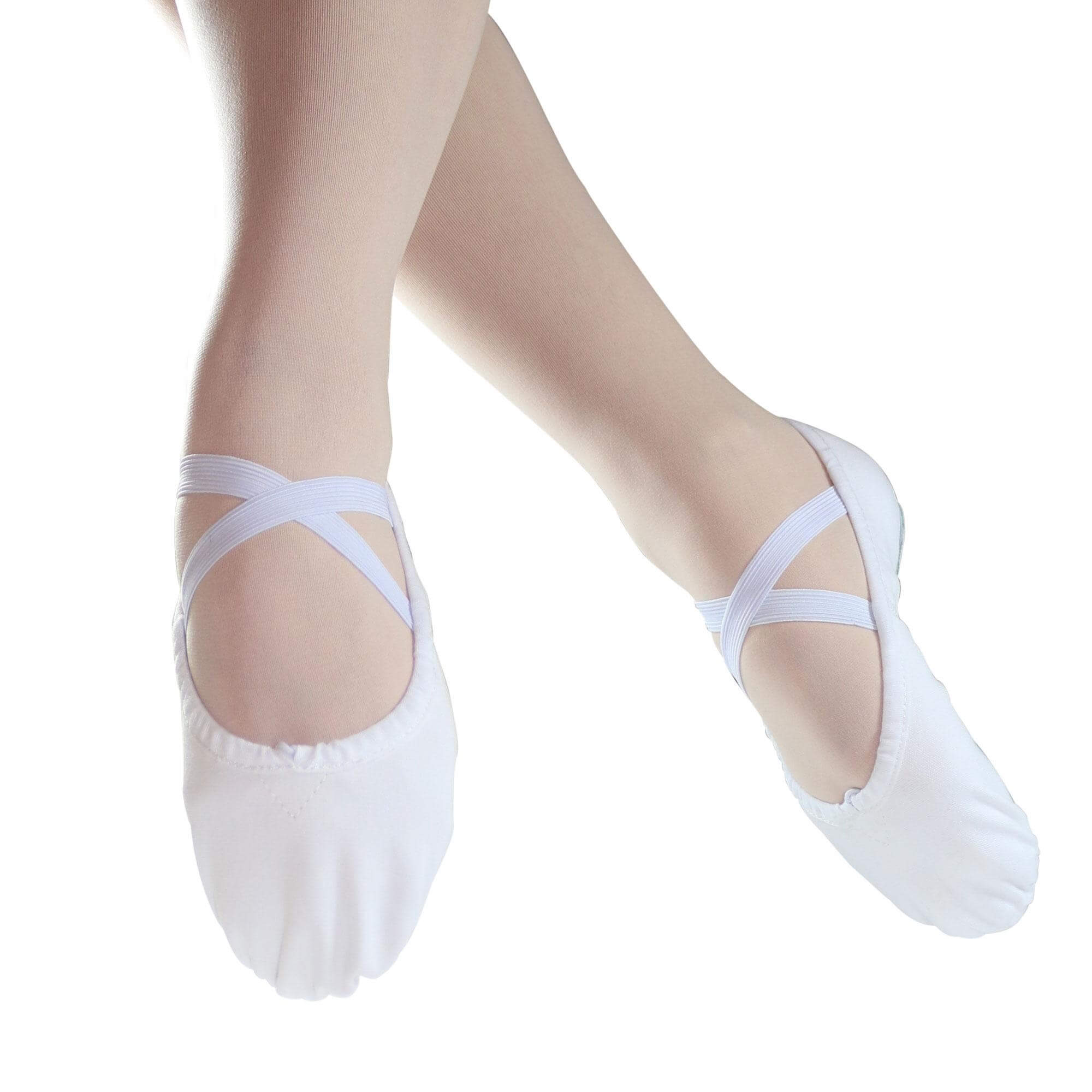 95f2f6024fdb Danzcue Adult Split Sole Canvas Ballet Slipper