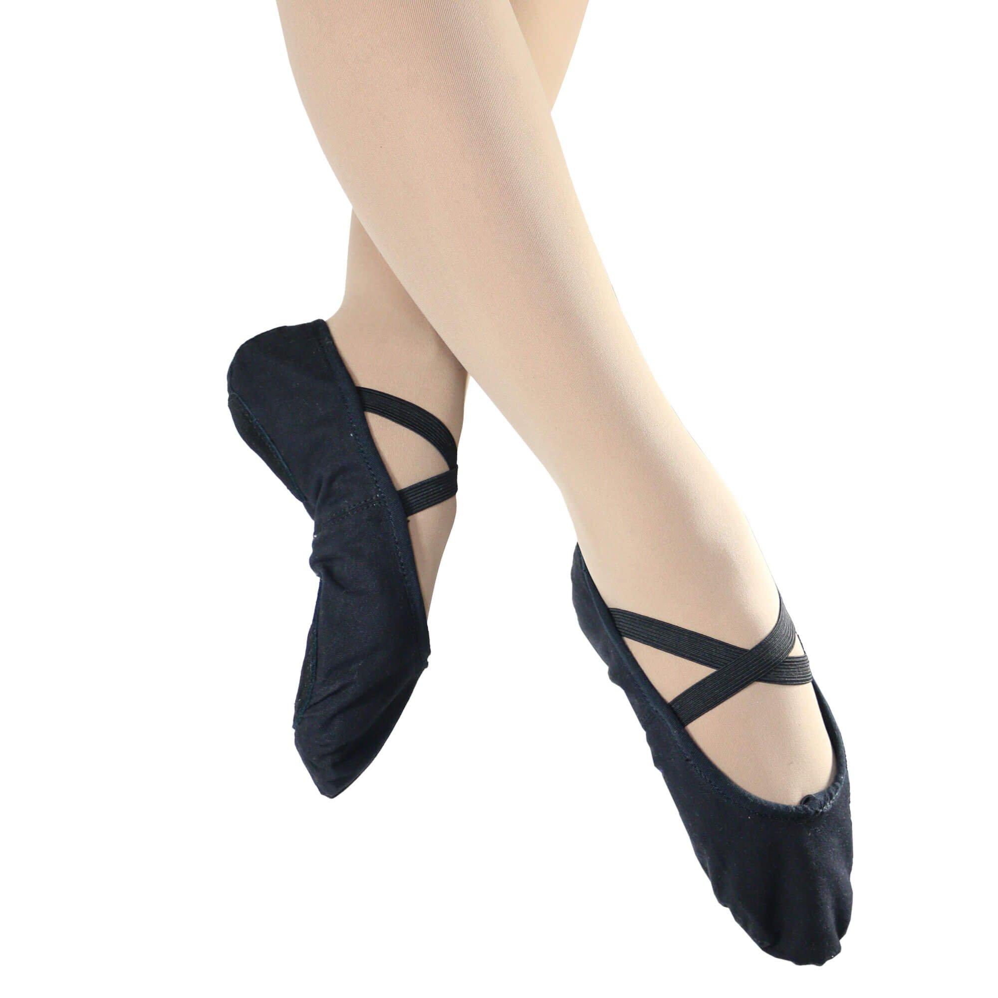 danzcue child split sole canvas ballet slipper