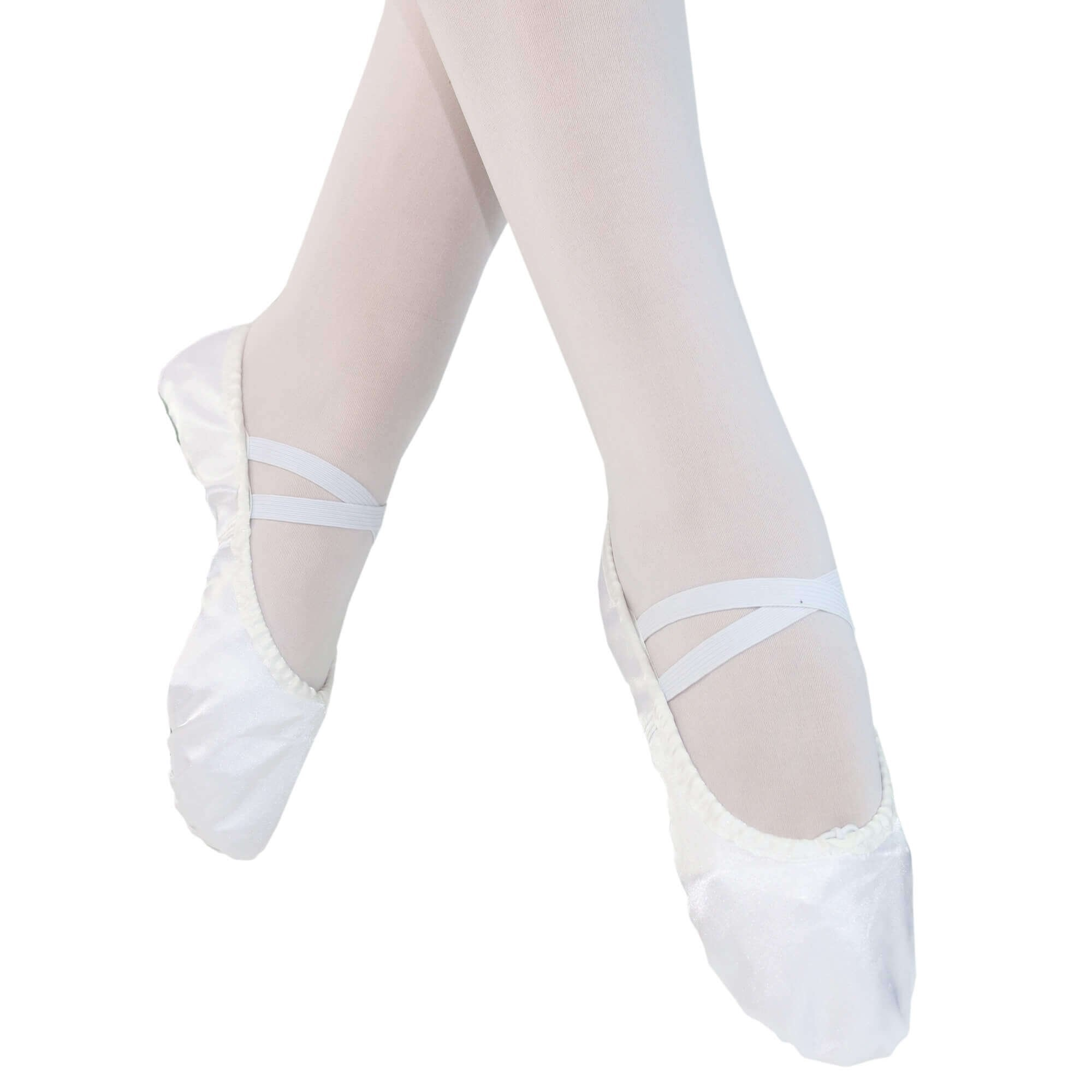 danzcue adult split sole satin ballet slipper