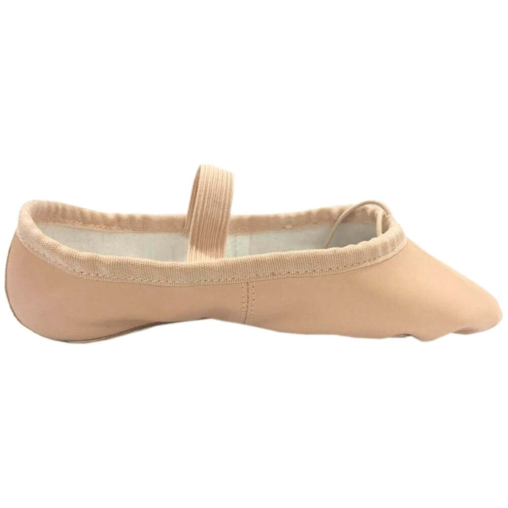 danzcue child full sole leather ballet dance slipper