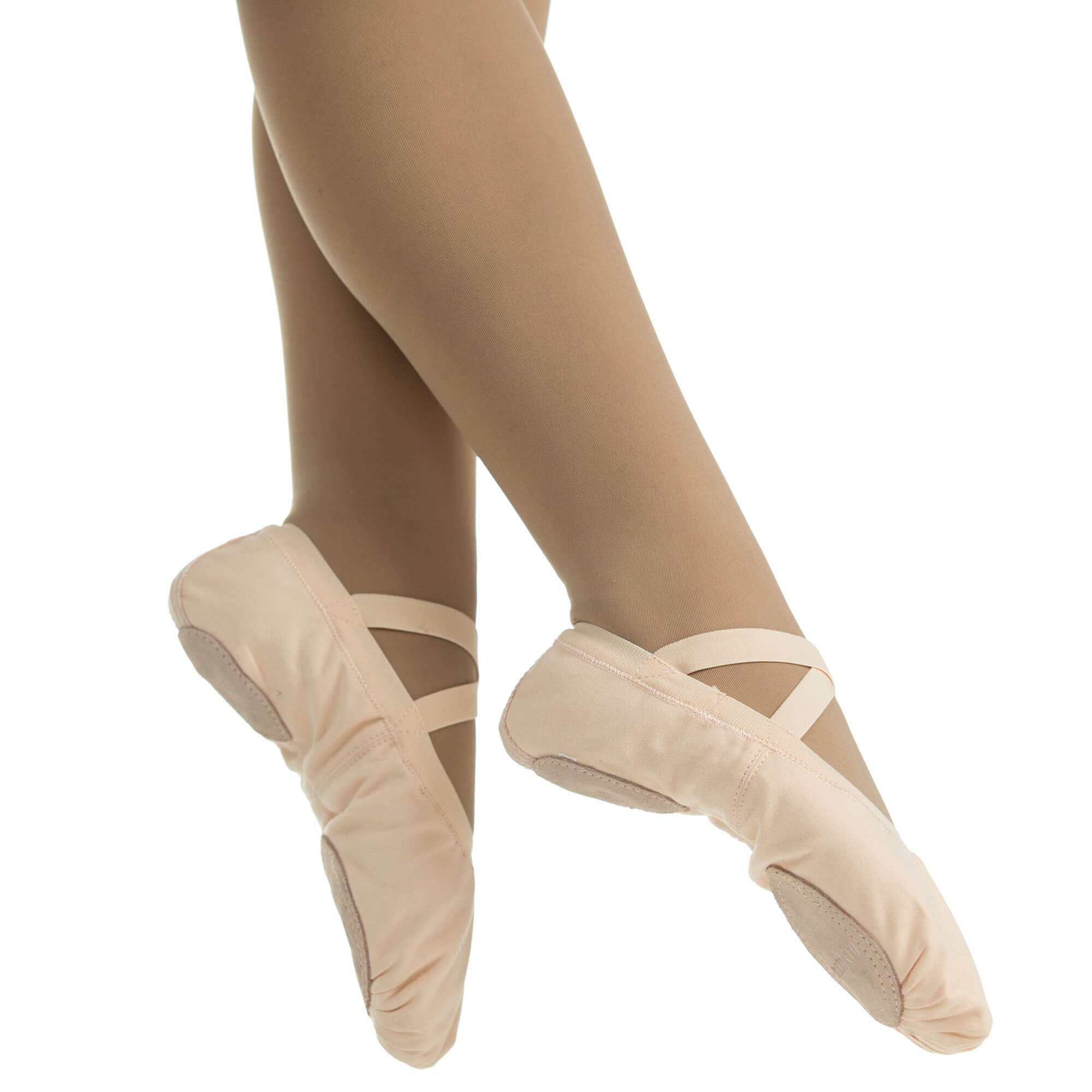 Danzcue Adult Canvas Pro Elastic Split Sole Ballet Sliper - Click Image to Close