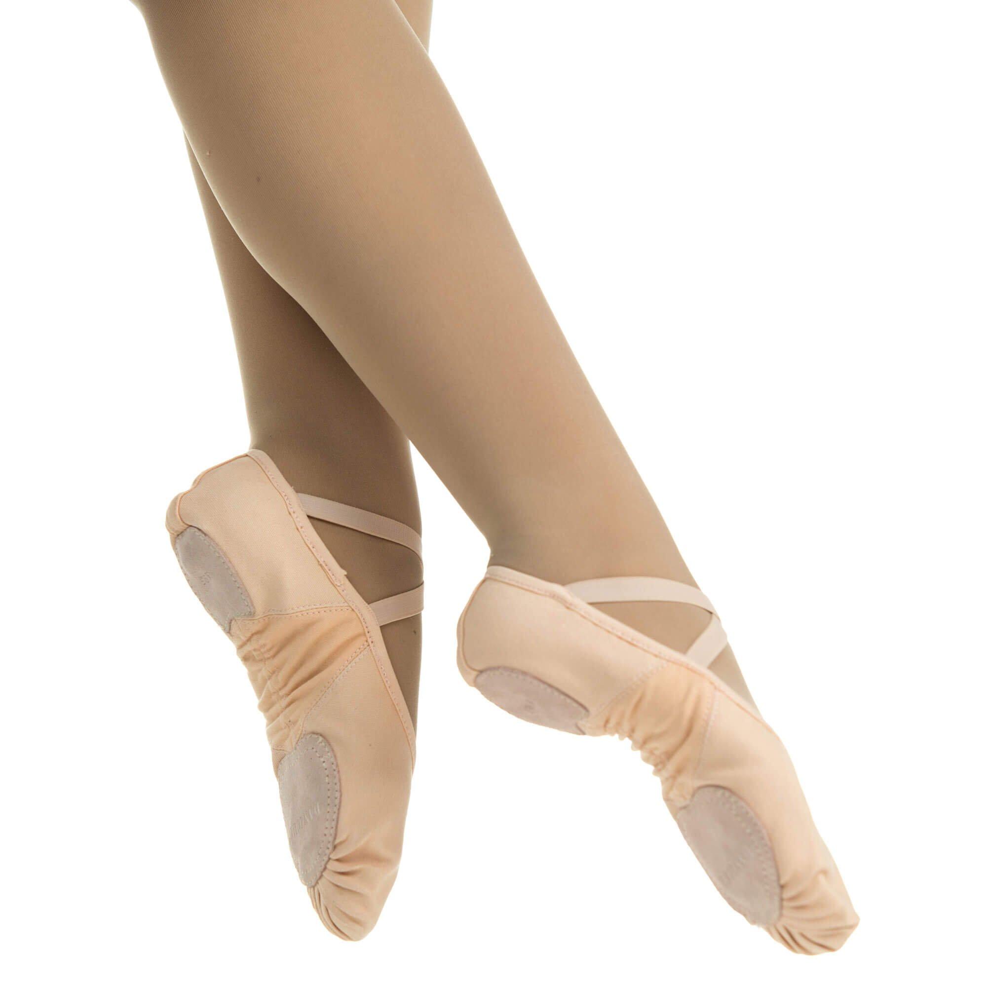 danzcue adult canvas stretch ballet slipper