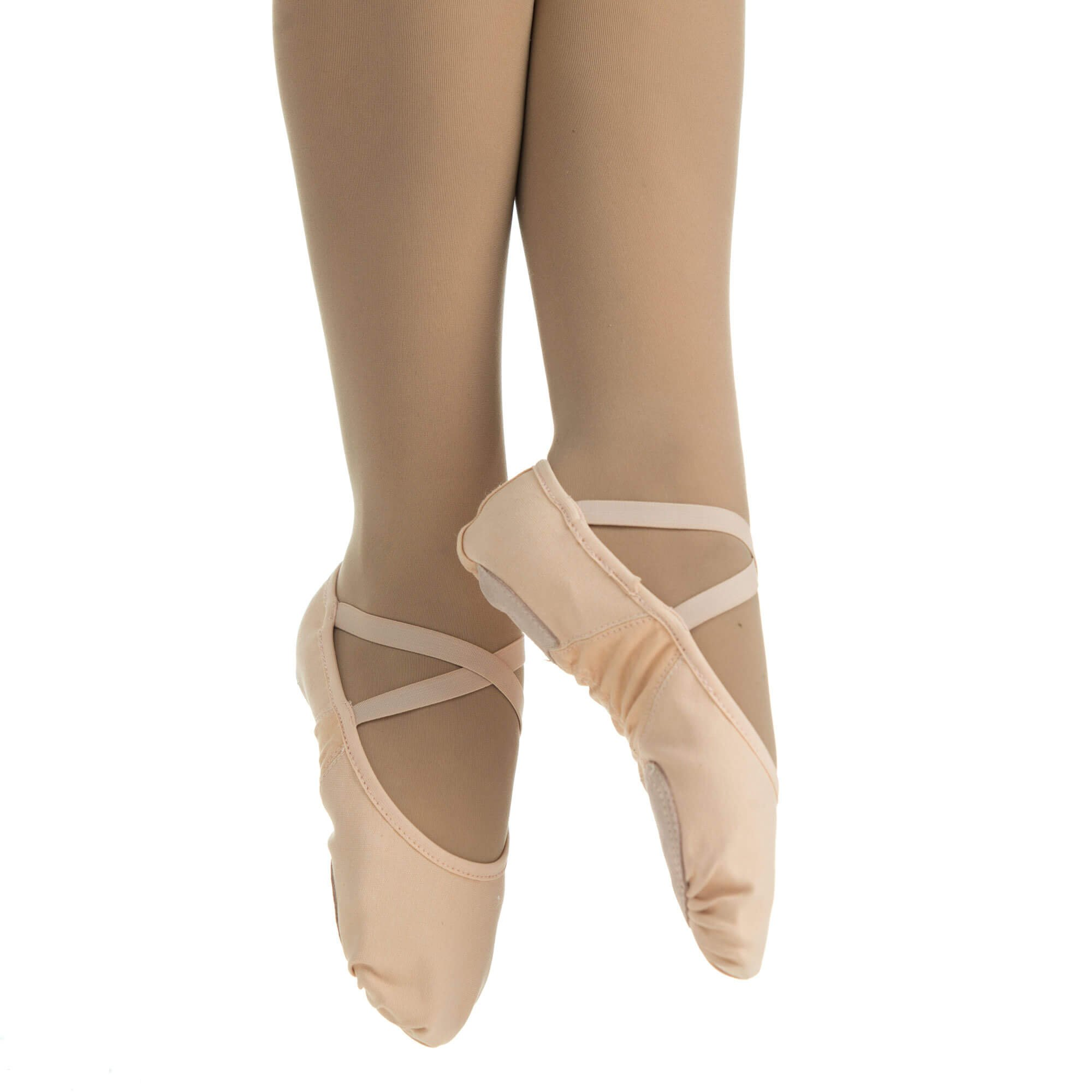 9c12efc339fb Danzcue Adult Canvas Stretch Ballet Slipper