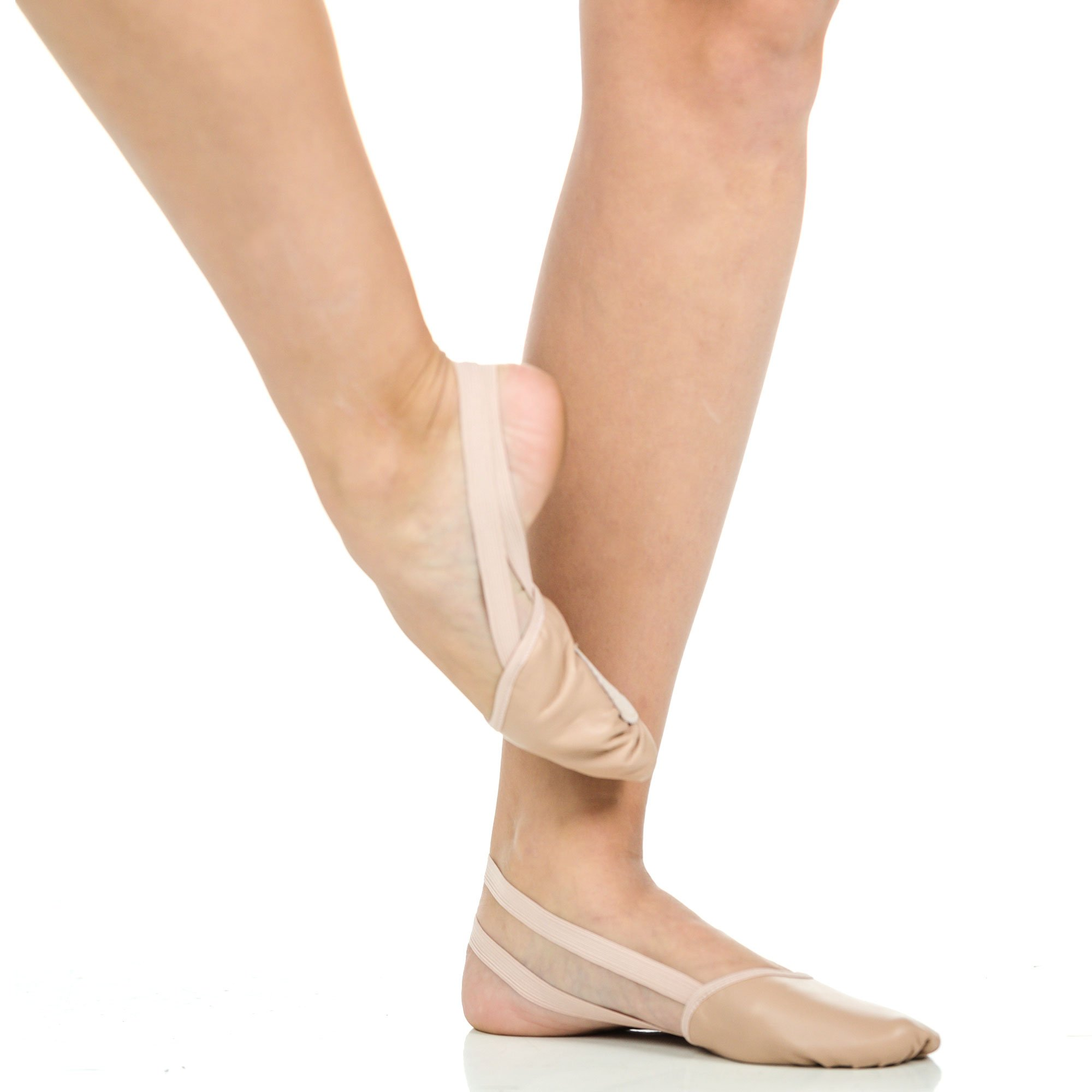 Danzcue Adult Half Sole Leather Ballet Dance Shoes