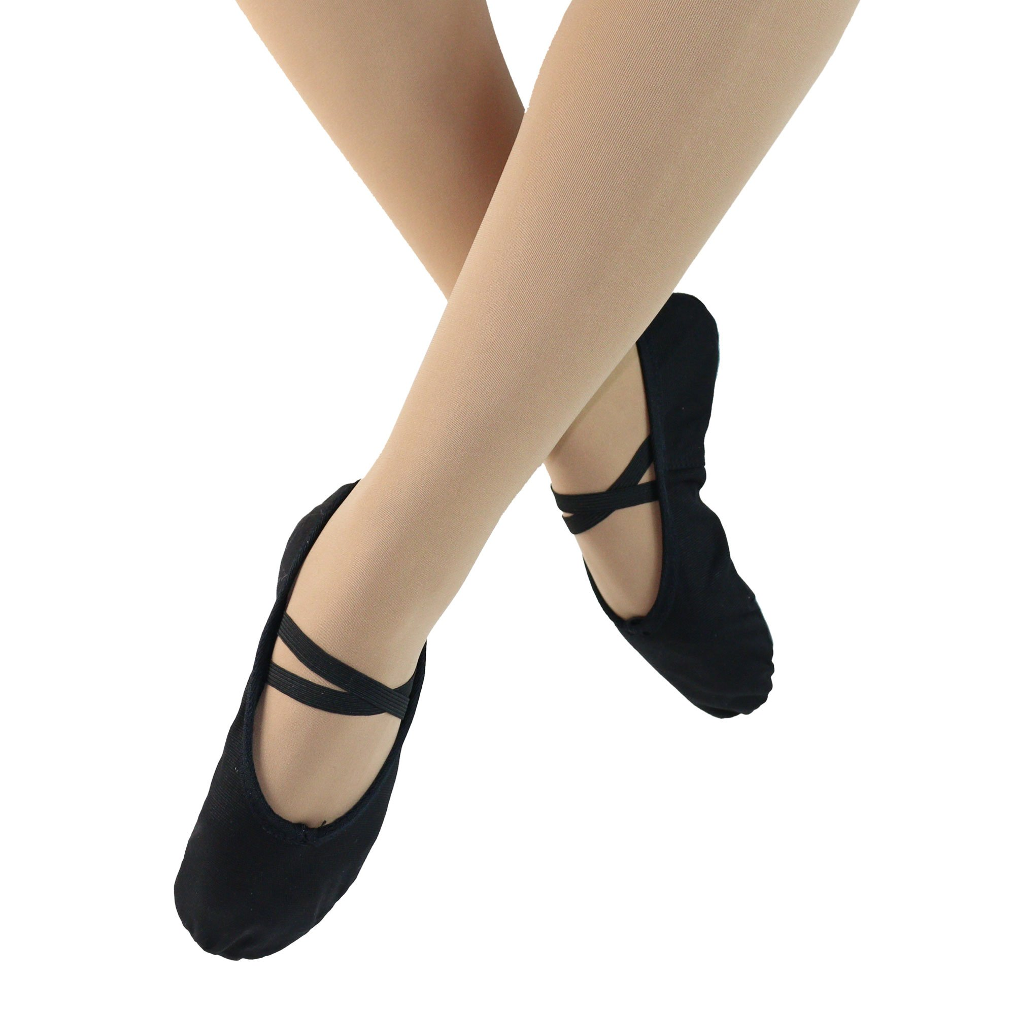 Danzcue Ballet Slipper Women's Canvas Split Sole Ballet Shoes