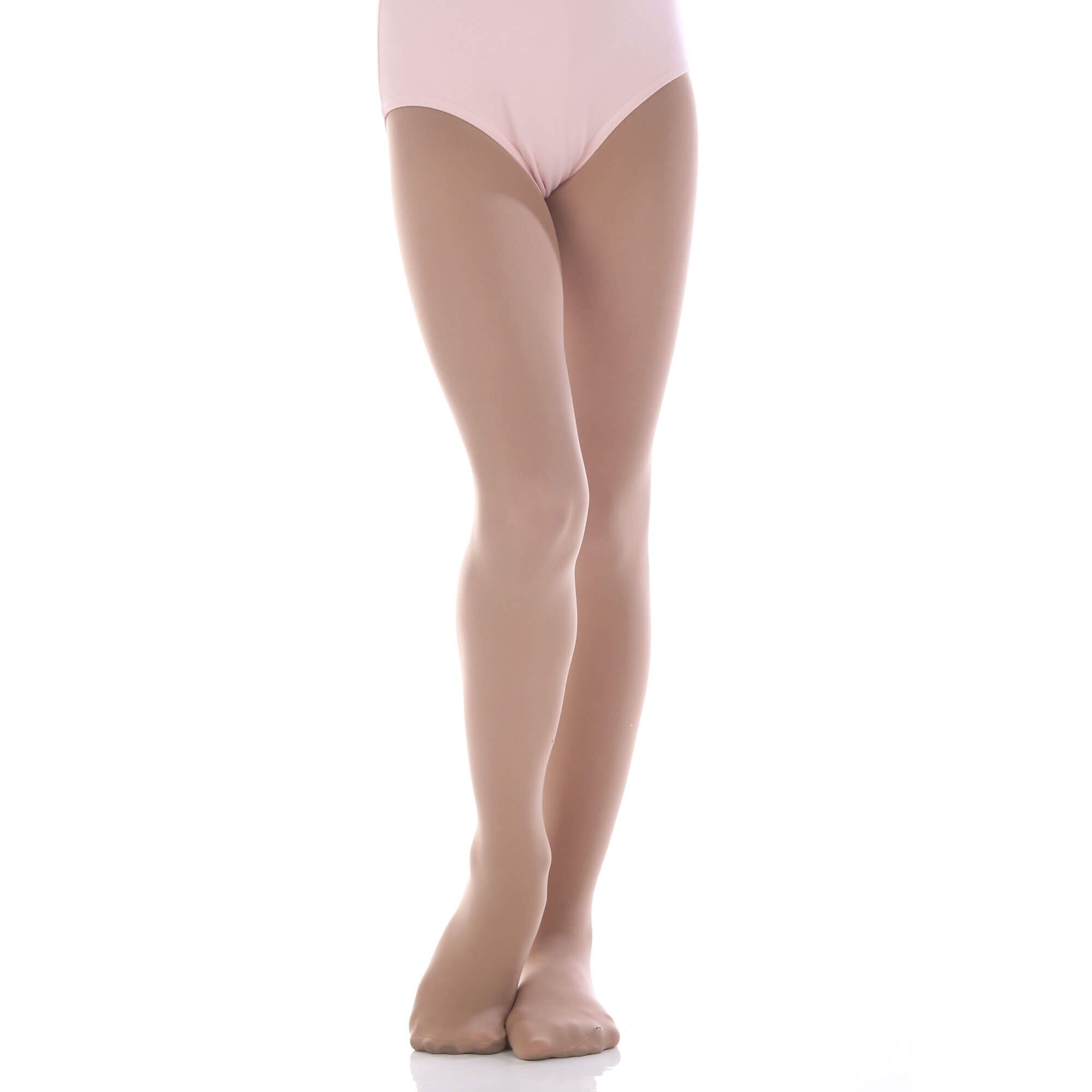 Danzcue Girls' Ultrasoft Stretch Convertible Tights - Click Image to Close