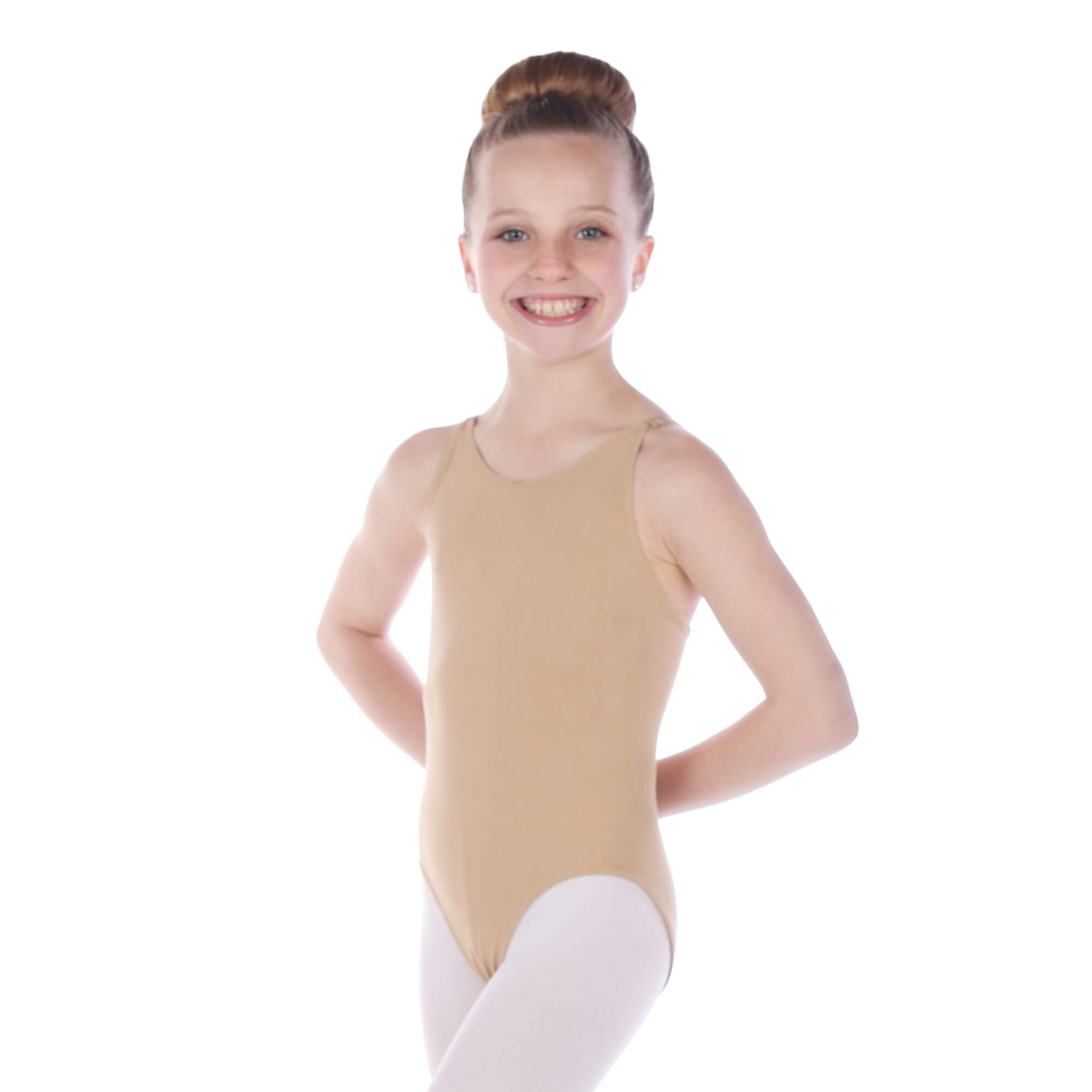 Danzcue Girls' Seamless Cami Undergarment Leotard