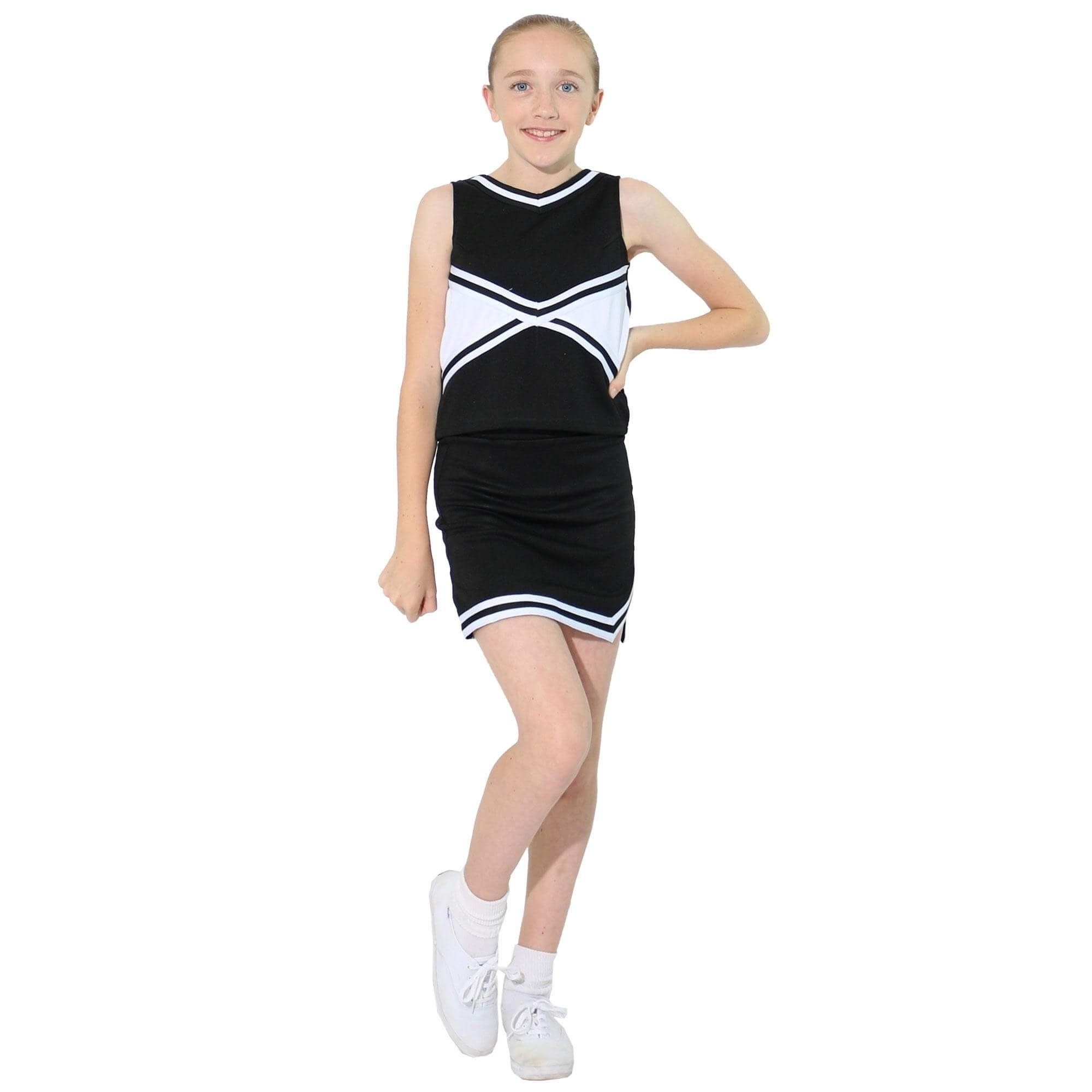 Danzcue Child 2-Color Kick Sweetheart Cheerleaders Uniform Set